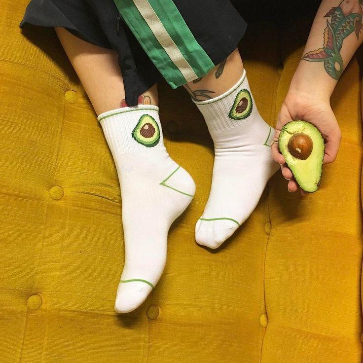 Basically we love avocado socks.