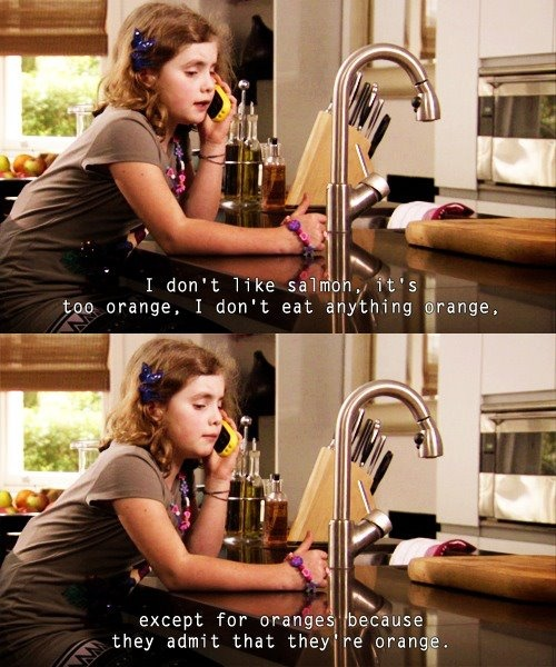 "Outnumbered - ""I don't eat anything orange.... except oranges"""