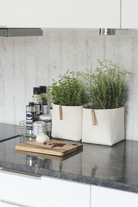 Anticipiamo l'arrivo della primavera arredando la cucina e il living del nostro appartamento con piante aromatiche in vaso.