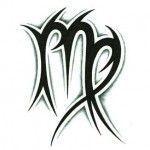 Tribal Virgo Sternzeichen Tattoo Design, #starfaceTattoo Virgin #TribalGirlsWedding …,  #De…