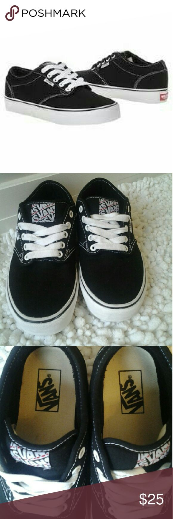Vans Authentic Skate Shoes Vans Authentic Black & White  skate shoes (Women) excellent condition,  no fading ... will go great in your casual shoes collection... Vans Shoes Sneakers