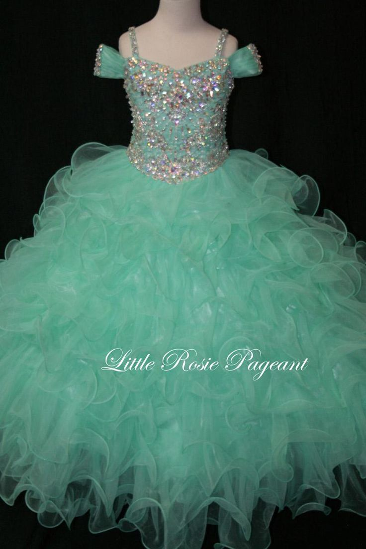 2016 Little Rosie Pageant Dresses For Girls Long Skirt Spaghetti Beads & Beading Rhinestone Organza Tiered Kids Formal Wear Sweep Train Flower Girl Dress Patterns Flower Girl Dresses For Less From Liuliu8899, $169.11| Dhgate.Com