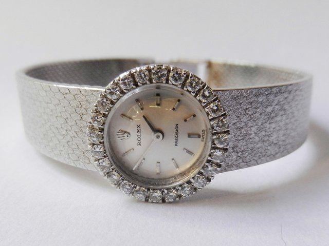 Dámské náramkové hodinky Rolex s brilianty