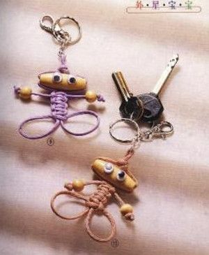 Adorable little macramé people. Directions are not in English, but the pictures…