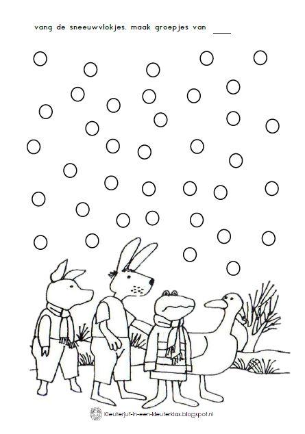 thema winter werkblad kikker in de kou winter kikker