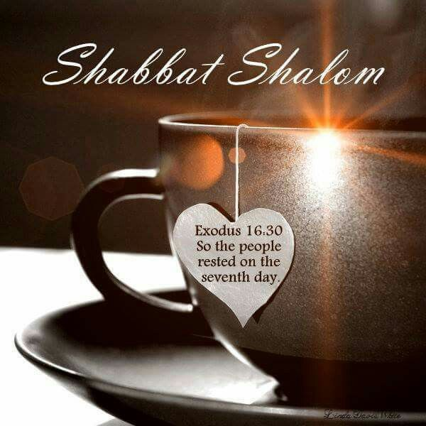 Shabbat Shalom! ~ So the people rested on the seventh day. Exodus 16:30