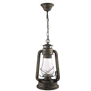 4842-1BG LANTERN - zlatočierny závesný lampáš - 420mm