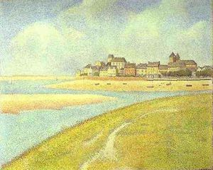 View of Le Crotoy from Upstream - (Georges Pierre Seurat)