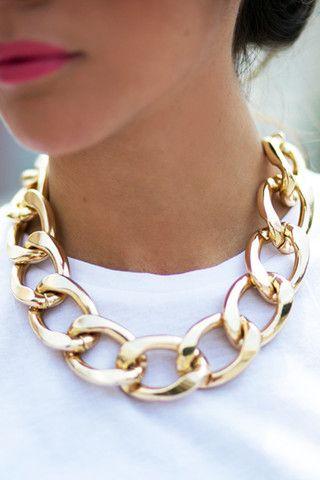 Amanda Wakeley Chunky Gold Necklace Gold 64U4ie