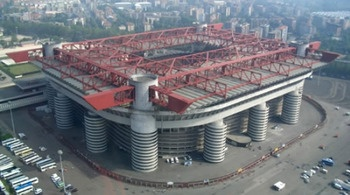 Estadio Guiseppe Meazza or San Siro. Milan, Italy. Home to AC and Inter Milan.