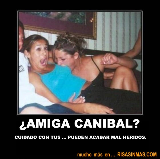 Amiga canibal  http://bit.ly/NCJimW: Funny Pics, Funny Shit, 28 Pictures, Funny Pictures, Hilarious Photo, Demotivational Posters, Funny Stuff, Funny Photo, Motivation Posters