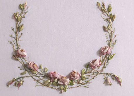 ribbon embroidery roses - Google'da Ara
