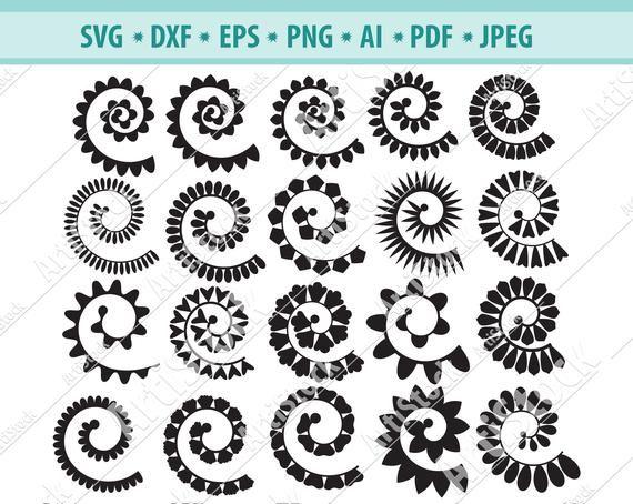 Download Rolled Flower svg, 3d flower svg, Rolled Paper Flower ...