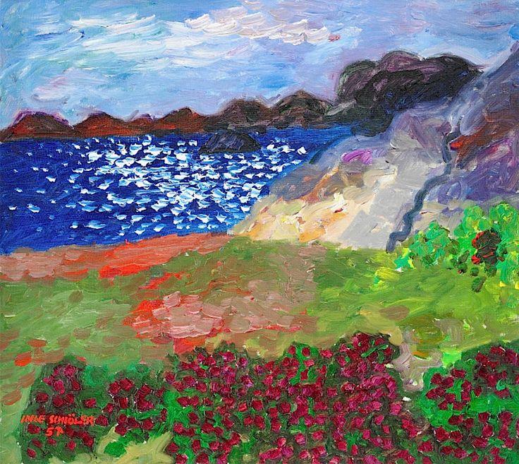 Inge Schiöler, Flowering Meadow by the Bay, Koster
