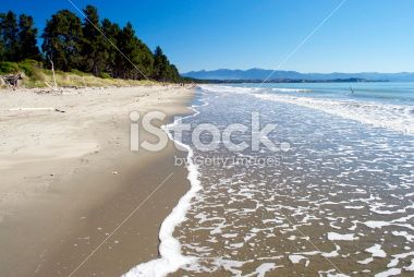 Seascape, Rabbit Island, (Moturoa) Tasman Region, NZ Royalty Free Stock Photo