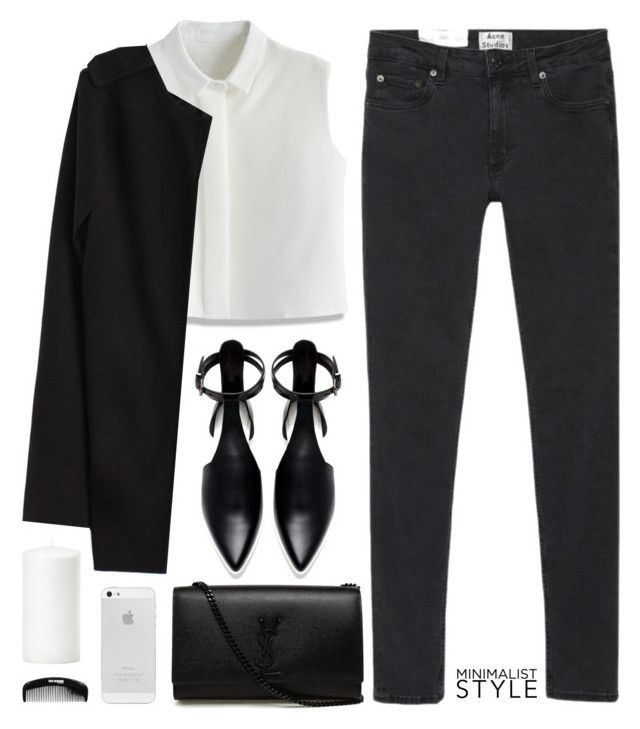 """""""Minimal style"""" by elly3 ❤ liked on Polyvore featuring moda, Acne Studios, Chicwish, Zara, Yves Saint Laurent, minimalism, Minimaliststyle, polyvoreeditorial y polyvorecontest"""