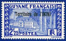 Inini 35 Stamp - Stamp of French Guinea Overprinted - SA IN 35-1 MNH