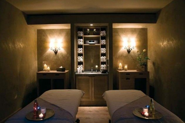 I Like The Clean Cabinet Space Spa Treatment Room Massage Room Decor Spa Rooms