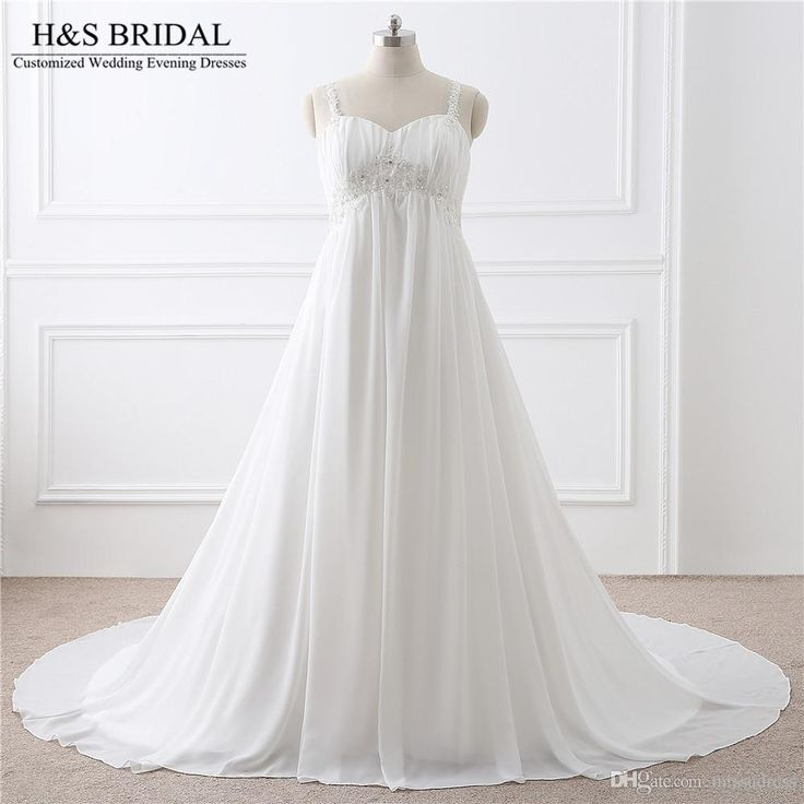 Sweetheart Chiffon Plus Size Wedding Dress Vestido De Noiva Lace Applique Beaded Lace Up Cheap Wedding Gowns Real Photo Wedding Gowns For Sale Wedding Princess Dresses From Missudress, $82.2| Dhgate.Com
