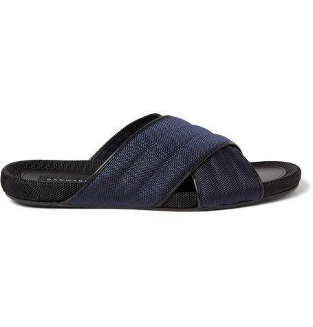 Dan Ward Woven Crossover Sandals
