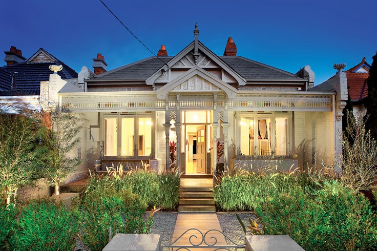A gorgeous double fronted Victorian facade designed by award winning architects Coy & Yiontis