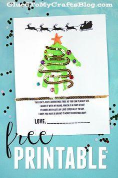 Free Handprint Holiday Poem Printable - Christmas Tree