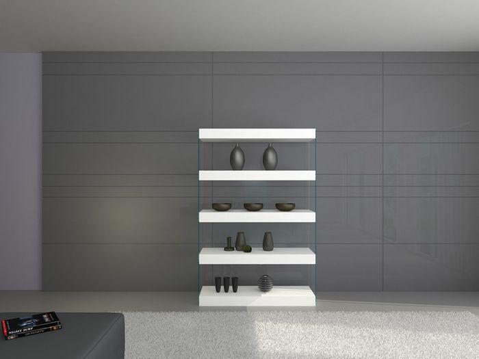 J CL Bookcase in white lacquer