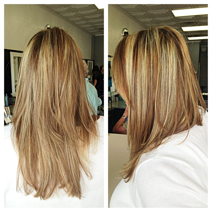 Blonde Highlight And Honey Brown Lowlight Hair By Talie