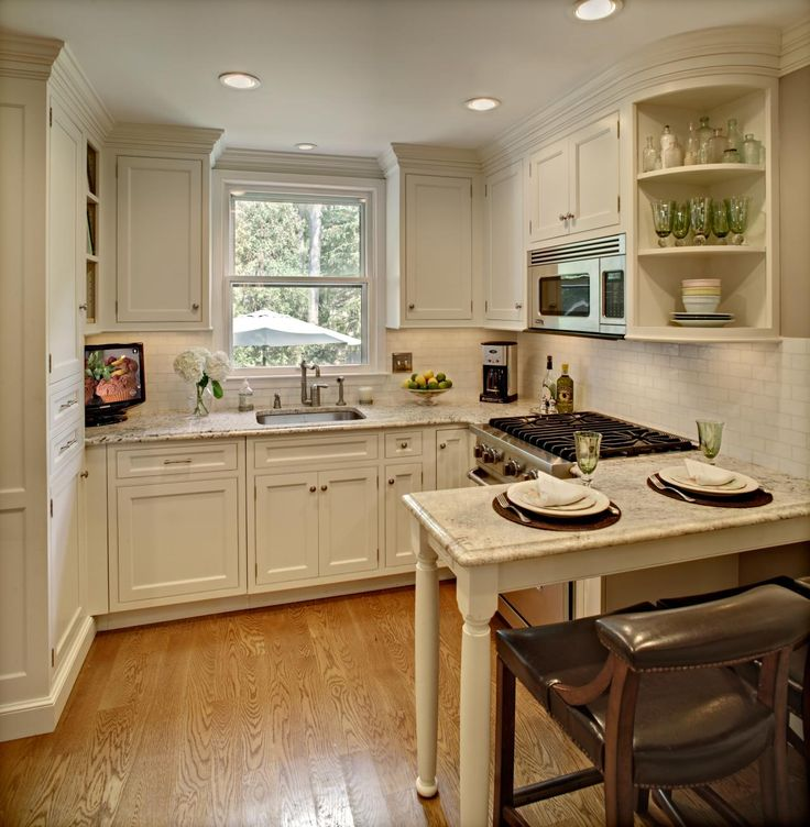 Find This Pin And More On Cabin Kitchens Small Square Kitchen Design