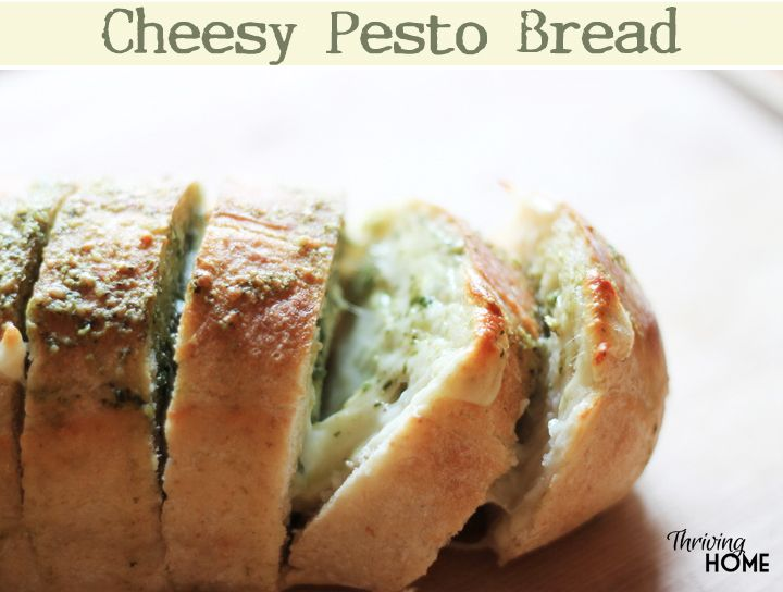 Oh my goodness. If you like garlic bread you will LOVE this cheesy pesto bread. So simple and so good.