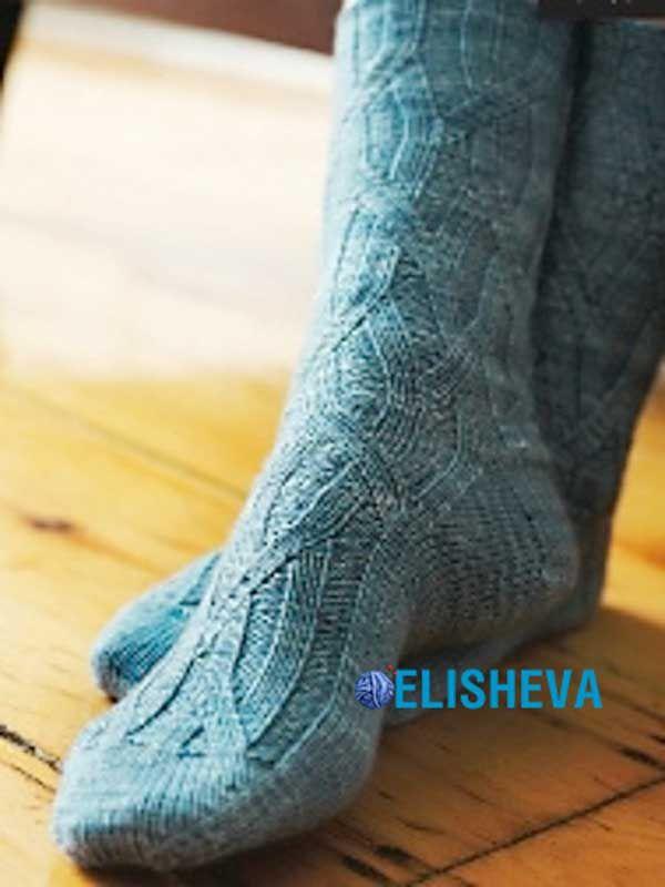 Красивые женские носочки Elm by Cookie. Схема и описание вязания | Блог elisheva.ru