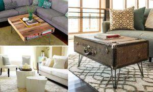 15 tables basses fabriquées avec des objets récup'