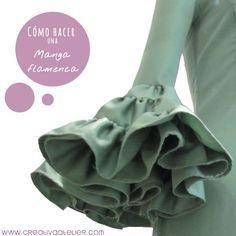 Cómo hacer una manga de volantes para un vestido de flamenca. Parte II del tutorial ¿Cmóo hacer un vestido de flamenca?