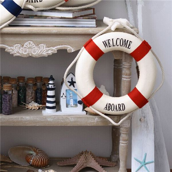 2015 новинка средиземноморском стиле спасательный круг главная висеть стены лодка плавать кольцо украшения морской на борту ремесло купить на AliExpress
