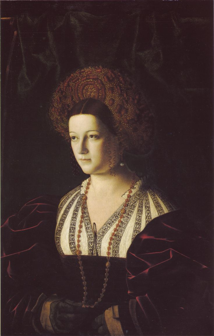 """Ritratto Di Gentildonna"" (Portrait of a Gentlewoman) - Bartolomeo Veneto - early 16th century"