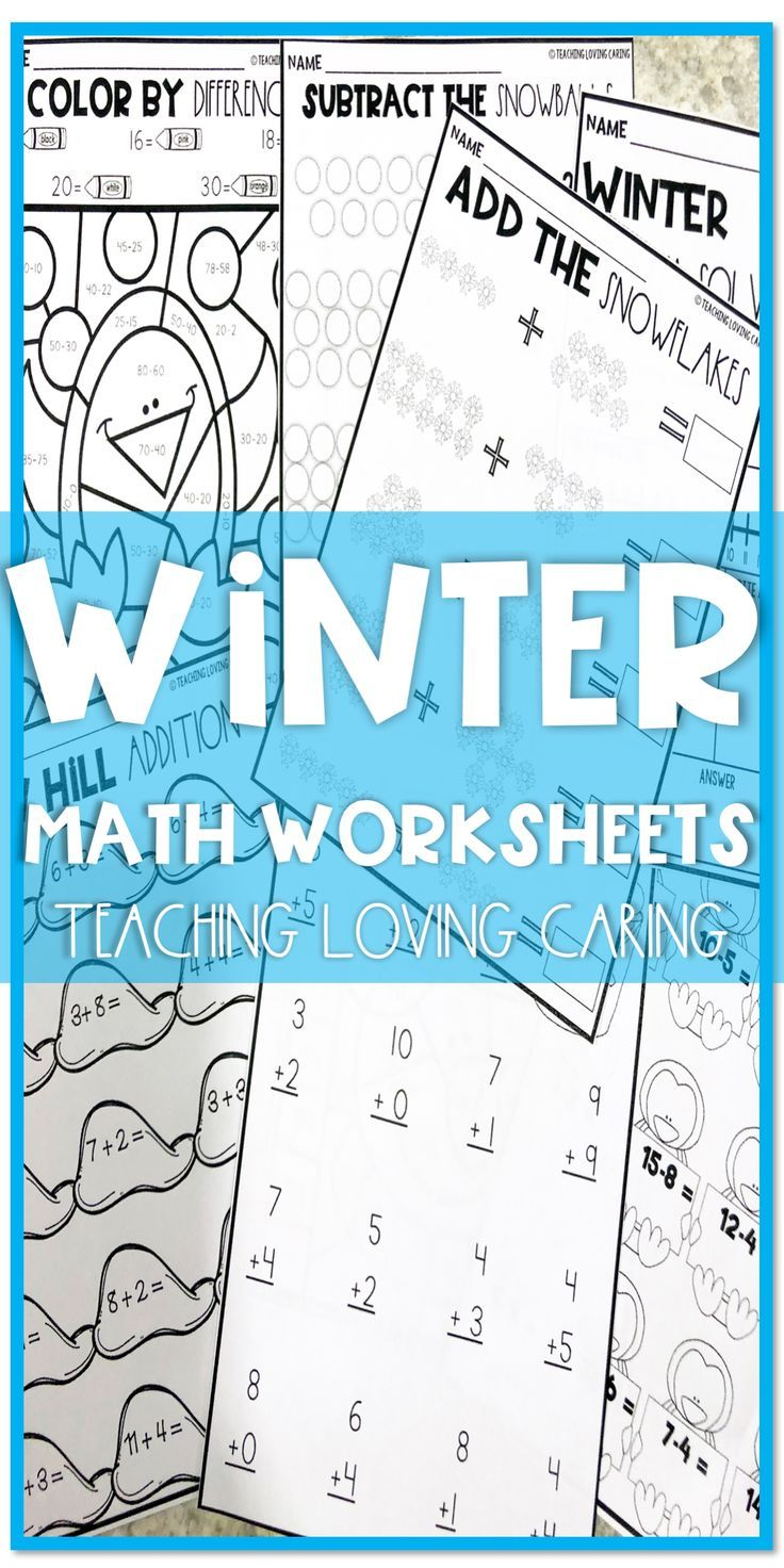 Winter Math Worksheets | Subtraction activities, Math worksheets and ...