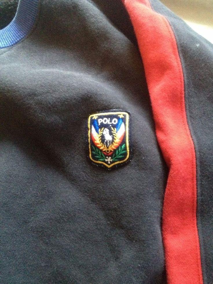 Vintage Ralph Luaren Uni Crest Sweatshirt 92 93 P-Wing