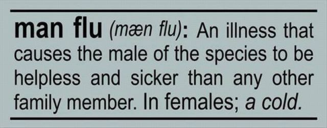 Lolz: Quotes, Truth, So True, Manflu, Man Flu, Funny Stuff, Funnies, Humor