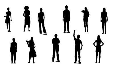 Standing crowd silhouette - photo#45