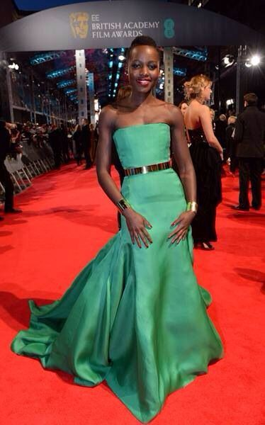 Best dress bafta 2014: lupita nyong'o in dior couture