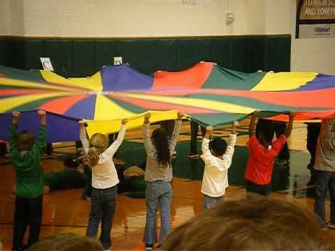 We Need a Little Christmas parachute routine