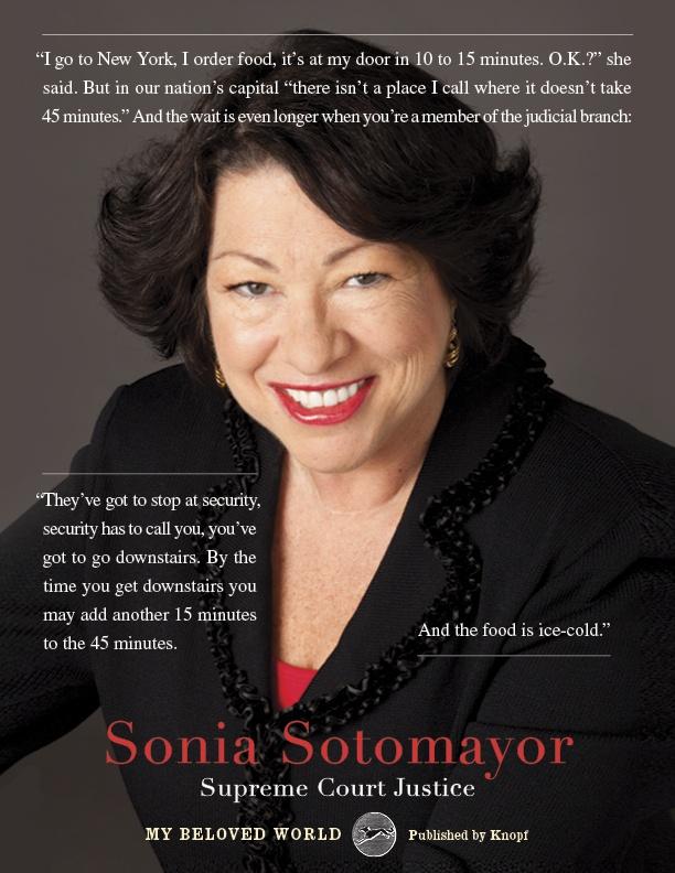 Some playful New York vs. DC banter in Sonia Sotomayor's memoir, My Beloved World