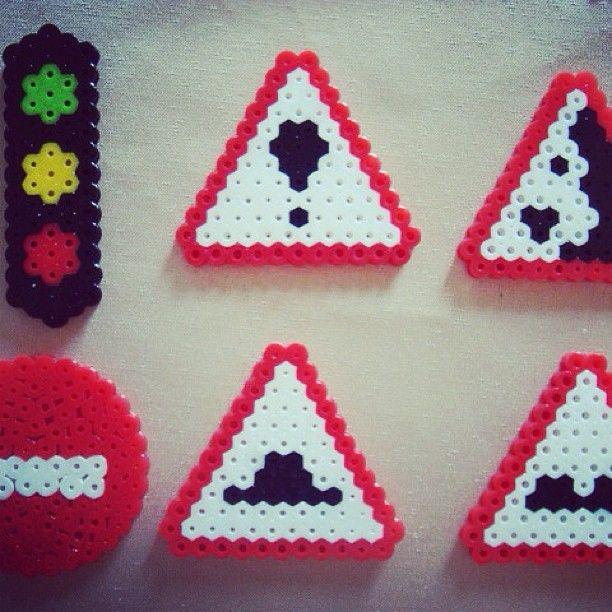 Signs perler bead pattern