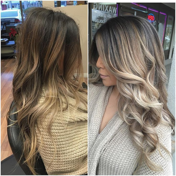 """Abbotsford Hairstylist on Instagram: """"Before. After on my beautiful @makeupbymelody we haven't balayaged her hair since last November! I was pretty excited for today!"""""""
