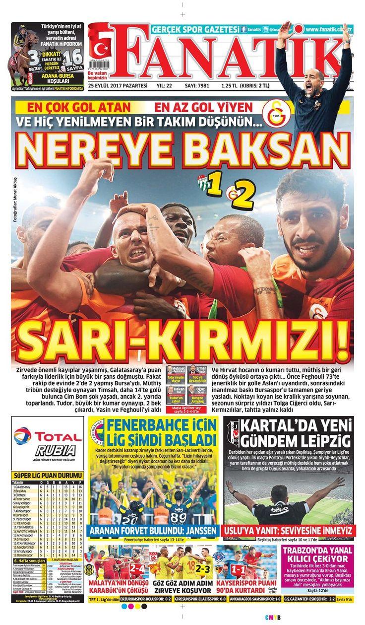 SPORUN MANŞETLERİ (25 EYLÜL 2017) - 22 | NTVSpor.net
