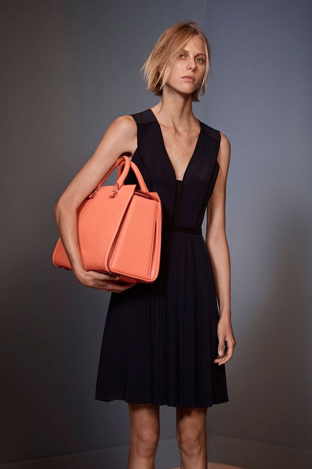 Love this simple wearbel black crepe de chine dress - Victoria by Victoria Beckham SS14
