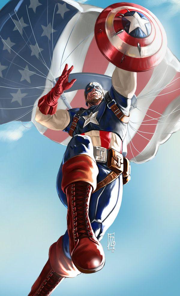 Captain America  by *earache-J