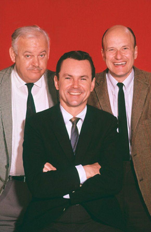 John Banner, Bob Crane, and Werner Klemperer.