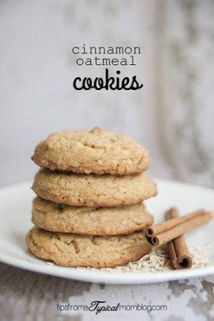 Cinnamon Oatmeal Cookies Recipe