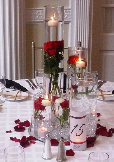 tall red rose wedding centerpieces tall red rose wedding rh pinterest com